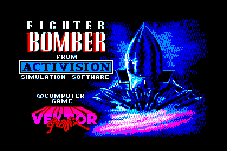 screenshot of the Amstrad CPC game Fighter bomber by GameBase CPC