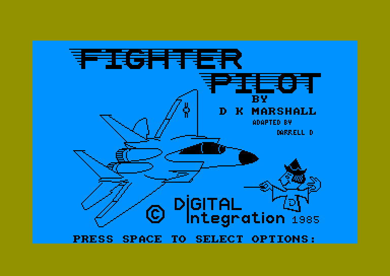 screenshot of the Amstrad CPC game Fighter pilot by GameBase CPC