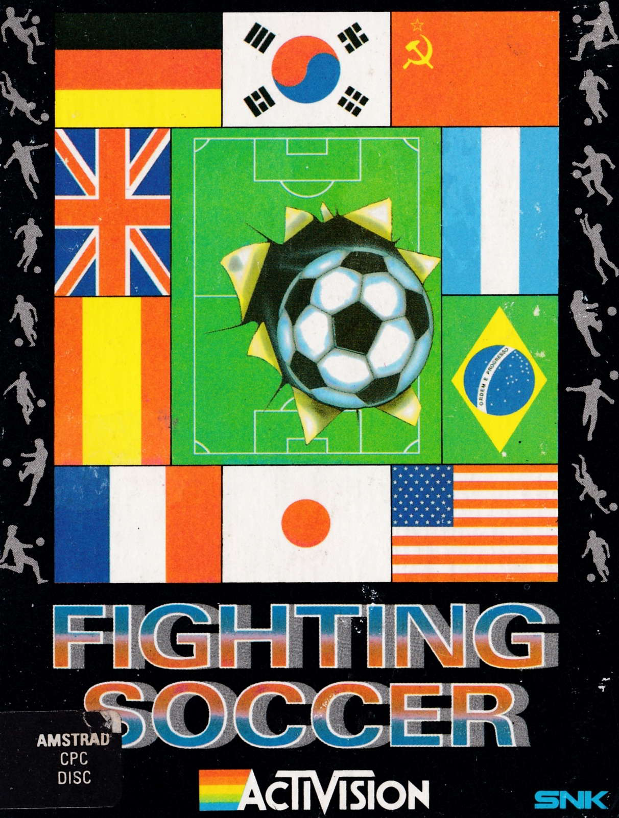 screenshot of the Amstrad CPC game Fighting soccer by GameBase CPC