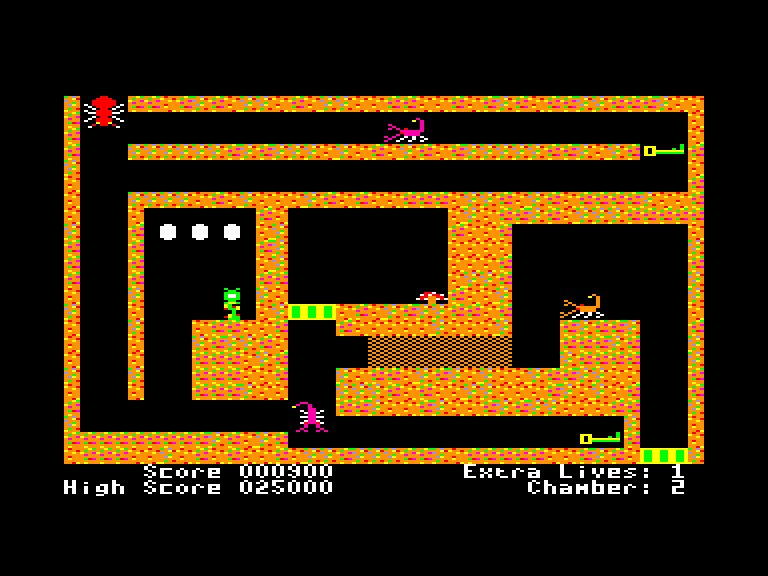 screenshot of the Amstrad CPC game Fire ant by GameBase CPC