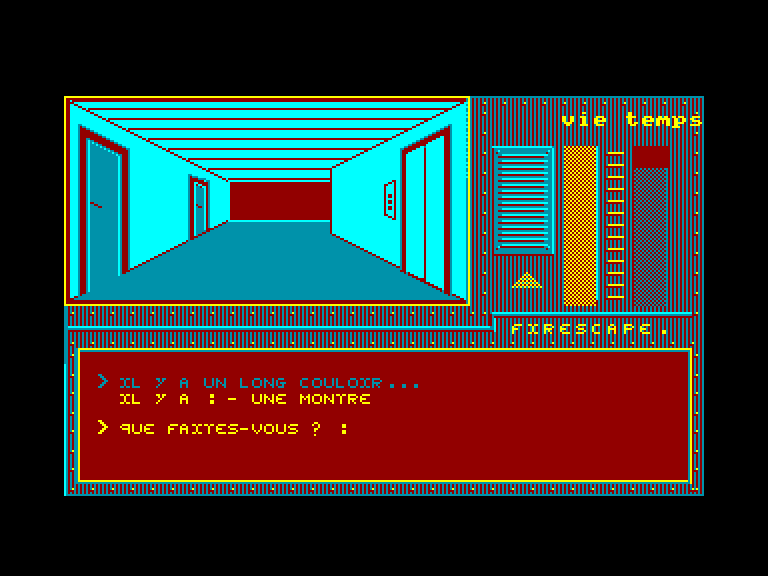 screenshot of the Amstrad CPC game Firescape by GameBase CPC