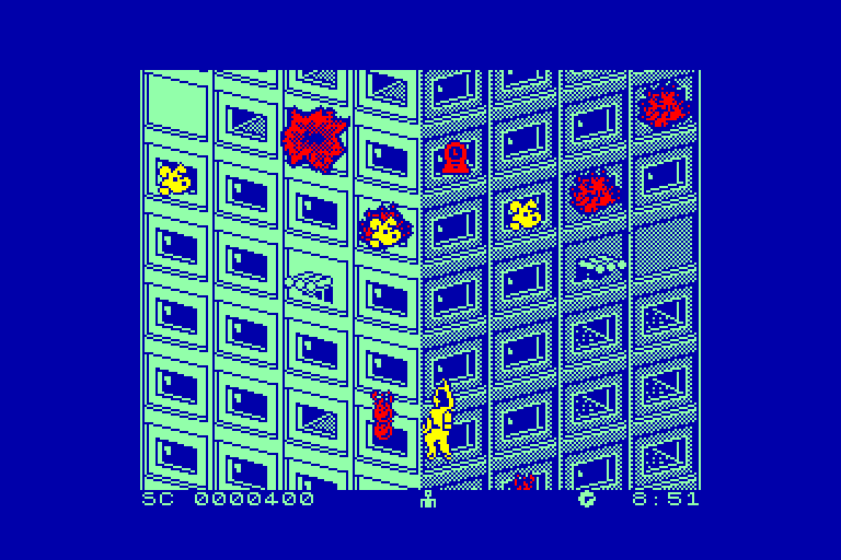 screenshot of the Amstrad CPC game Firetrap by GameBase CPC