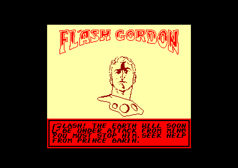 screenshot of the Amstrad CPC game Flash gordon by GameBase CPC