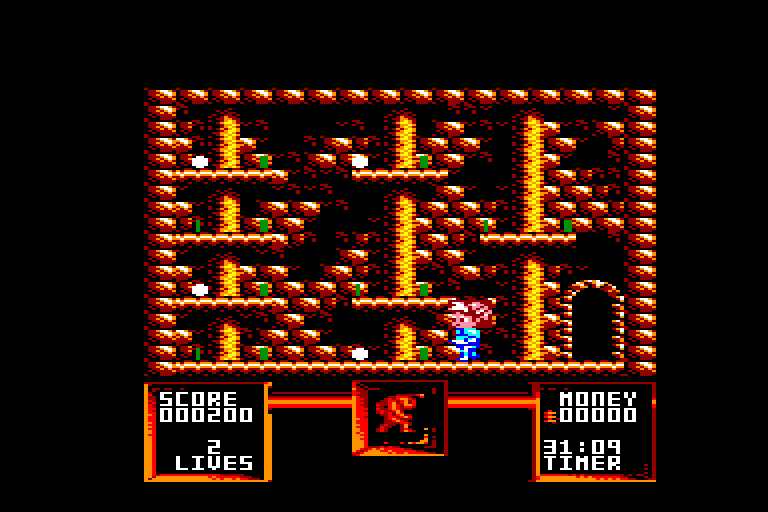 screenshot of the Amstrad CPC game Flimbo's quest by GameBase CPC