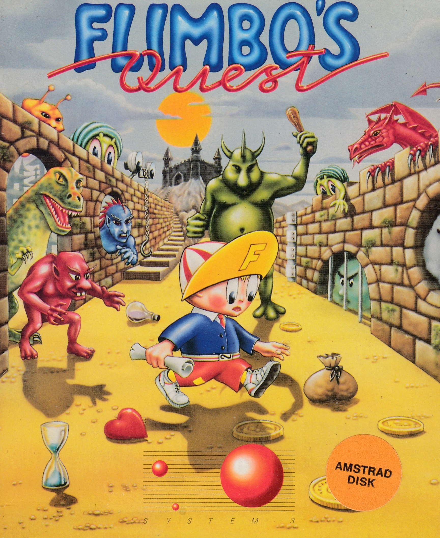 cover of the Amstrad CPC game Flimbo's Quest  by GameBase CPC