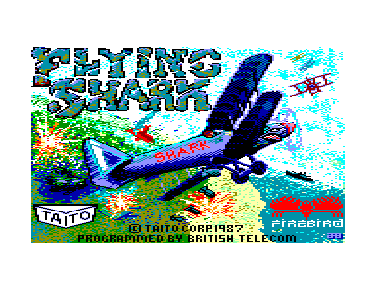 screenshot of the Amstrad CPC game Flying Shark by GameBase CPC