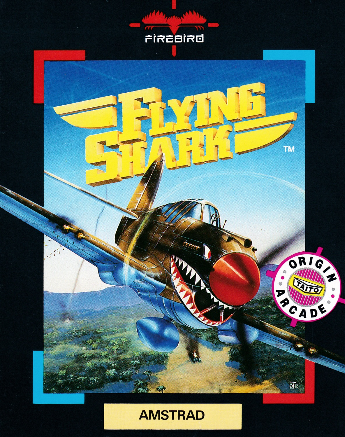 Flying Shark by Taito edited by Firebird on Amstrad CPC (1987)