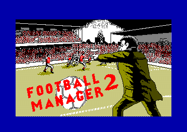 screenshot of the Amstrad CPC game Football Manager 2 - Expansion Kit by GameBase CPC