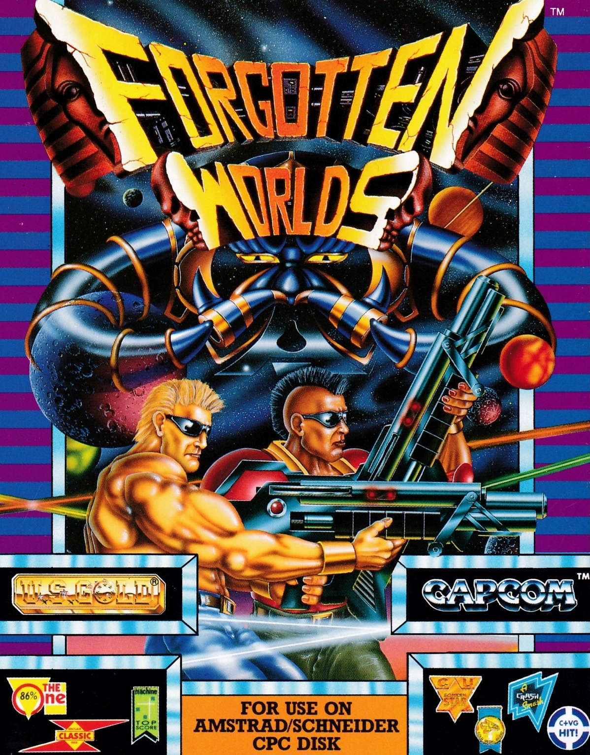 cover of the Amstrad CPC game Forgotten Worlds  by GameBase CPC