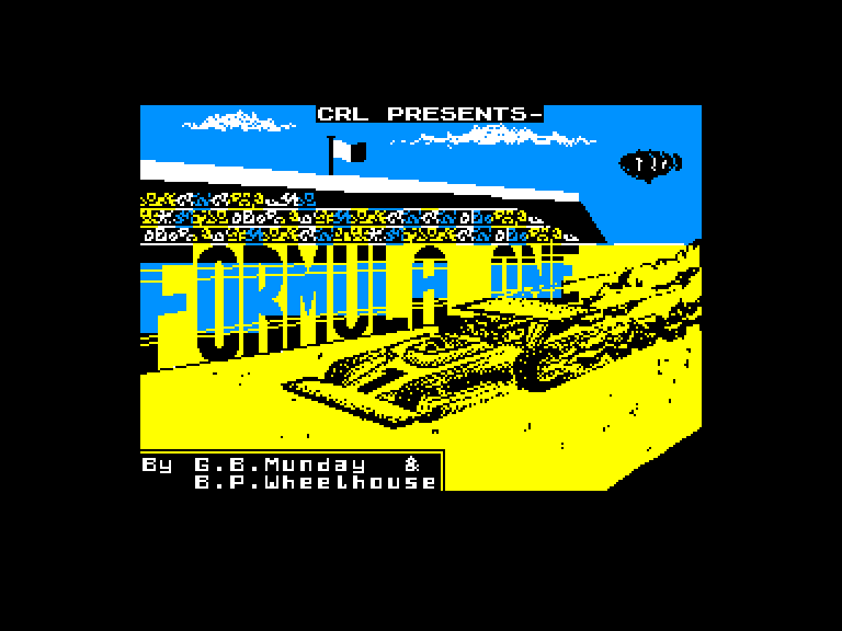 screenshot of the Amstrad CPC game Formula One by GameBase CPC