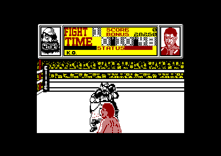 screenshot of the Amstrad CPC game Frank bruno's boxing by GameBase CPC