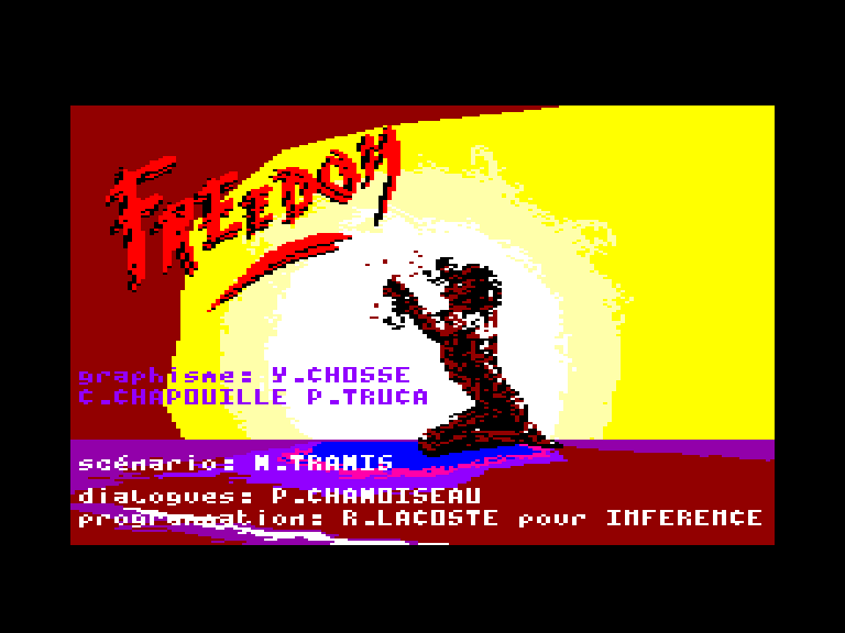 screenshot of the Amstrad CPC game Freedom by GameBase CPC