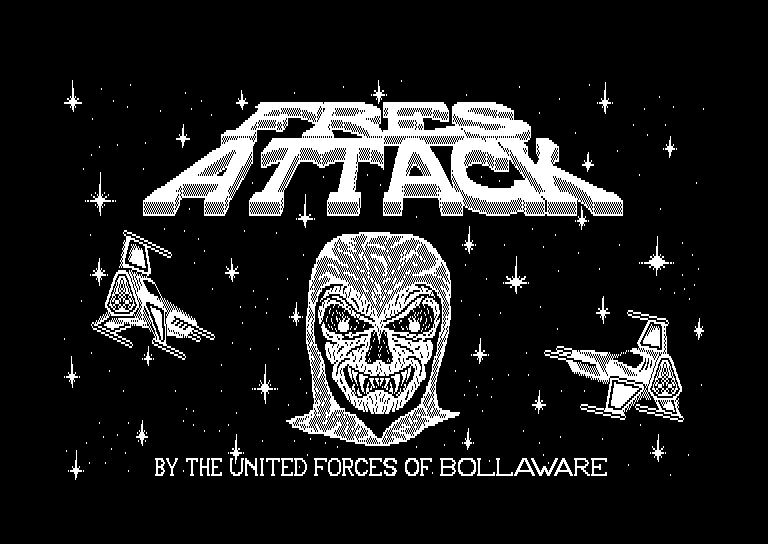 screenshot of the Amstrad CPC game Fres attack by GameBase CPC