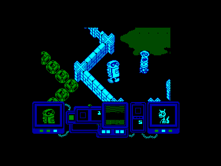 screenshot of the Amstrad CPC game Frontiers by GameBase CPC