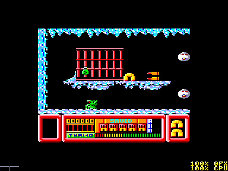 screenshot of the Amstrad CPC game Frost Byte by GameBase CPC
