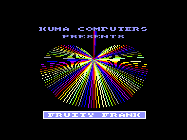 screenshot of the Amstrad CPC game Fruity Frank by GameBase CPC