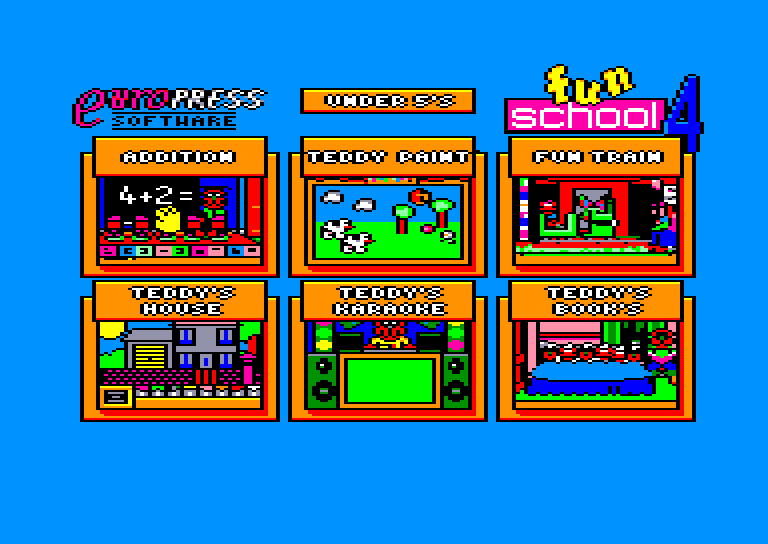 screenshot of the Amstrad CPC game Fun School 4 - For the Under 5s by GameBase CPC