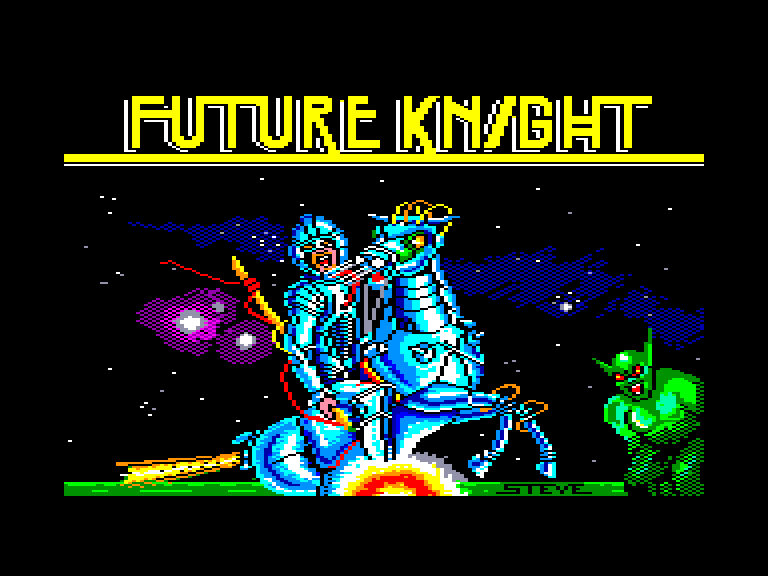 screenshot of the Amstrad CPC game Future knight by GameBase CPC