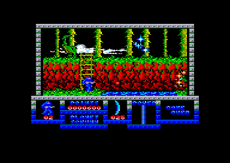 screenshot of the Amstrad CPC game Game Over by GameBase CPC