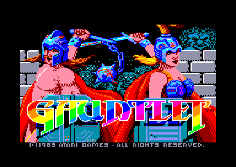 screenshot of the Amstrad CPC game Gauntlet by GameBase CPC