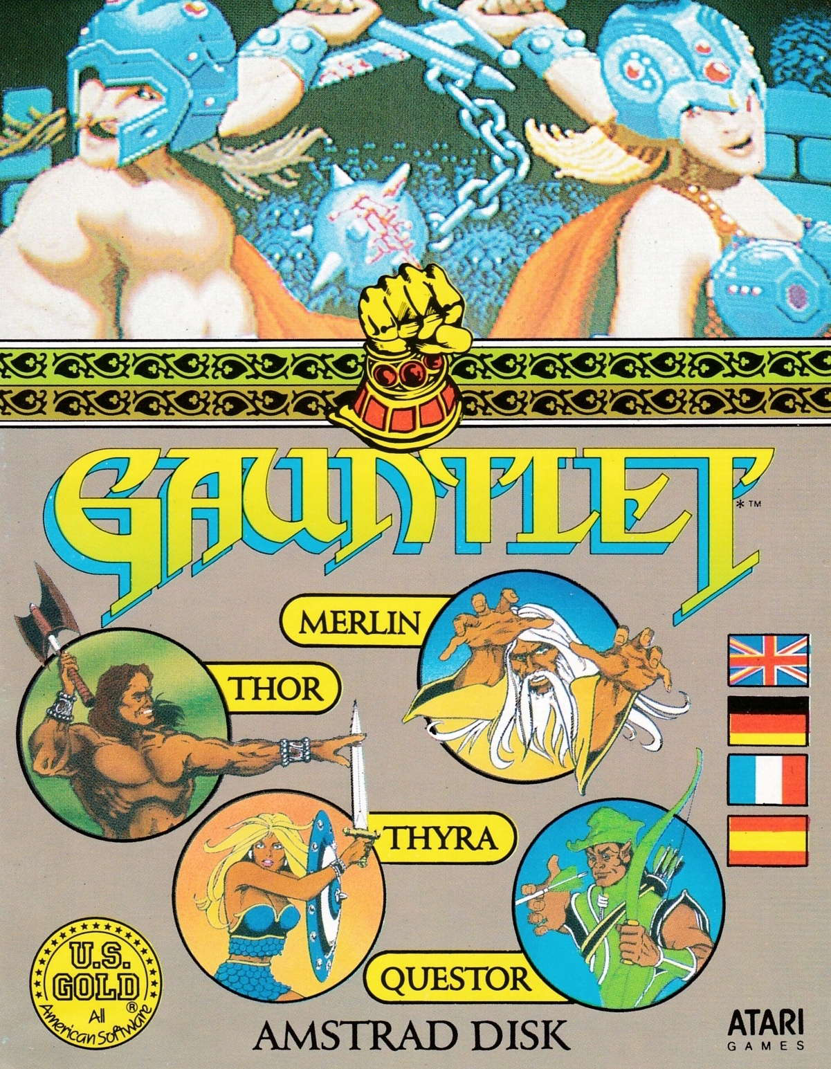 cover of the Amstrad CPC game Gauntlet  by GameBase CPC