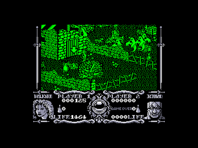 screenshot of the Amstrad CPC game Gauntlet III - The Final Quest by GameBase CPC