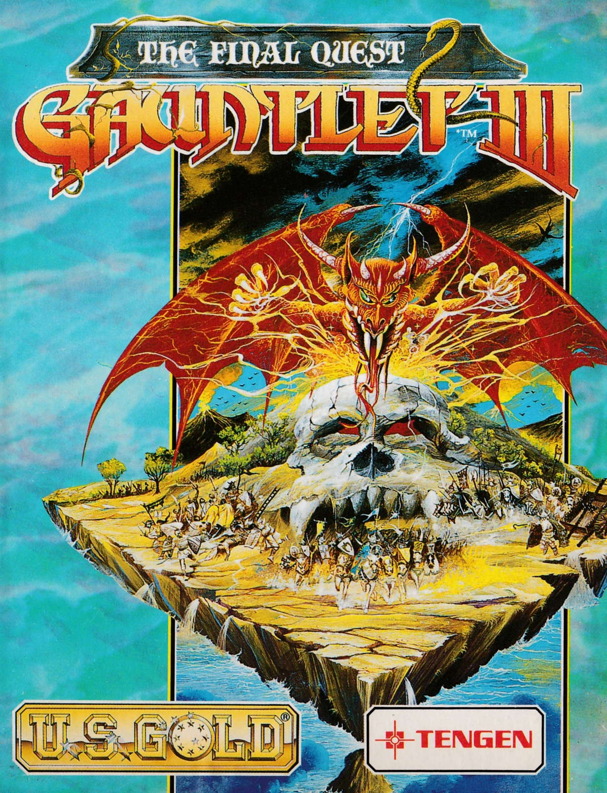 cover of the Amstrad CPC game Gauntlet III - The Final Quest  by GameBase CPC