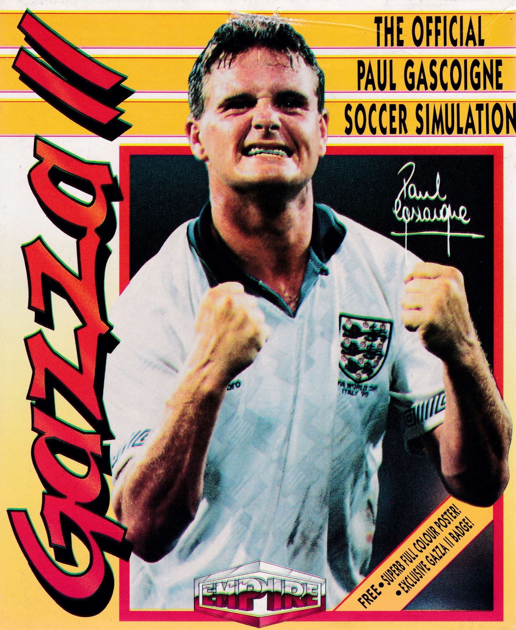 cover of the Amstrad CPC game Gazza II  by GameBase CPC