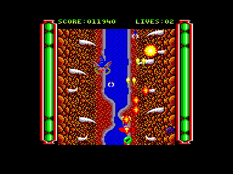 screenshot of the Amstrad CPC game Gemini Wing by GameBase CPC