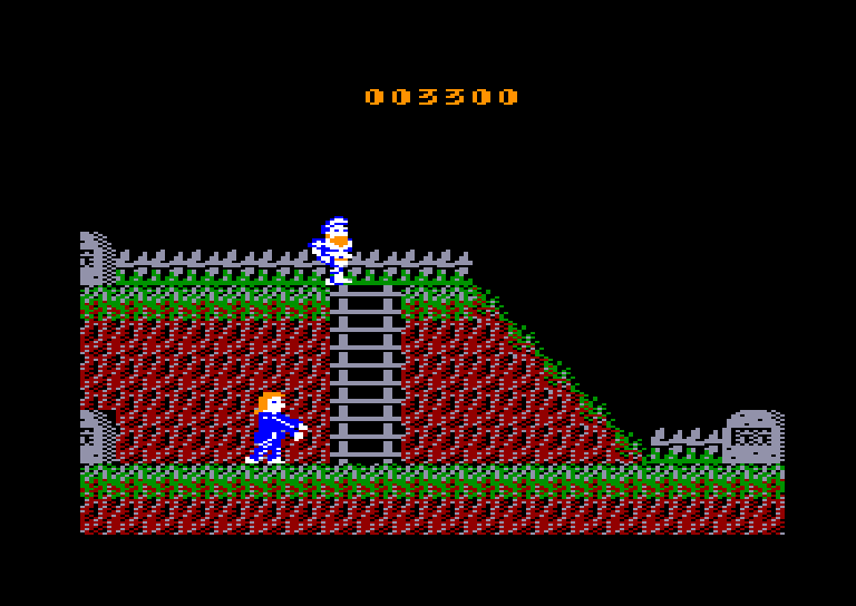 screenshot of the Amstrad CPC game Ghosts 'n Goblins by GameBase CPC