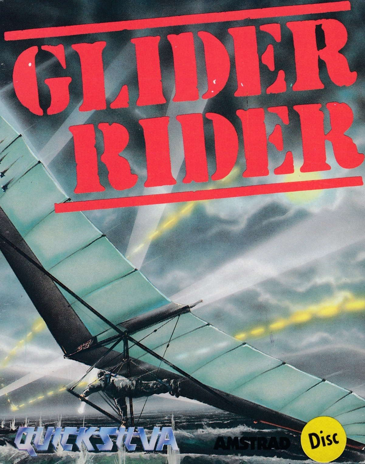 screenshot of the Amstrad CPC game Glider Rider by GameBase CPC
