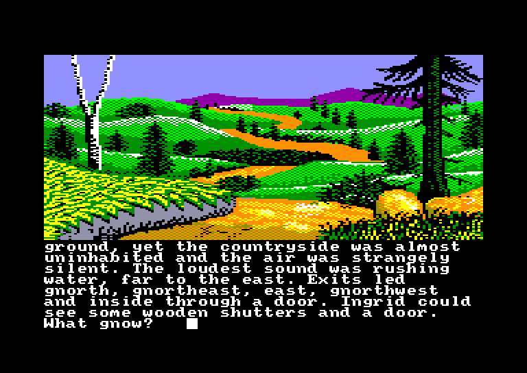 screenshot of the Amstrad CPC game Gnome ranger by GameBase CPC