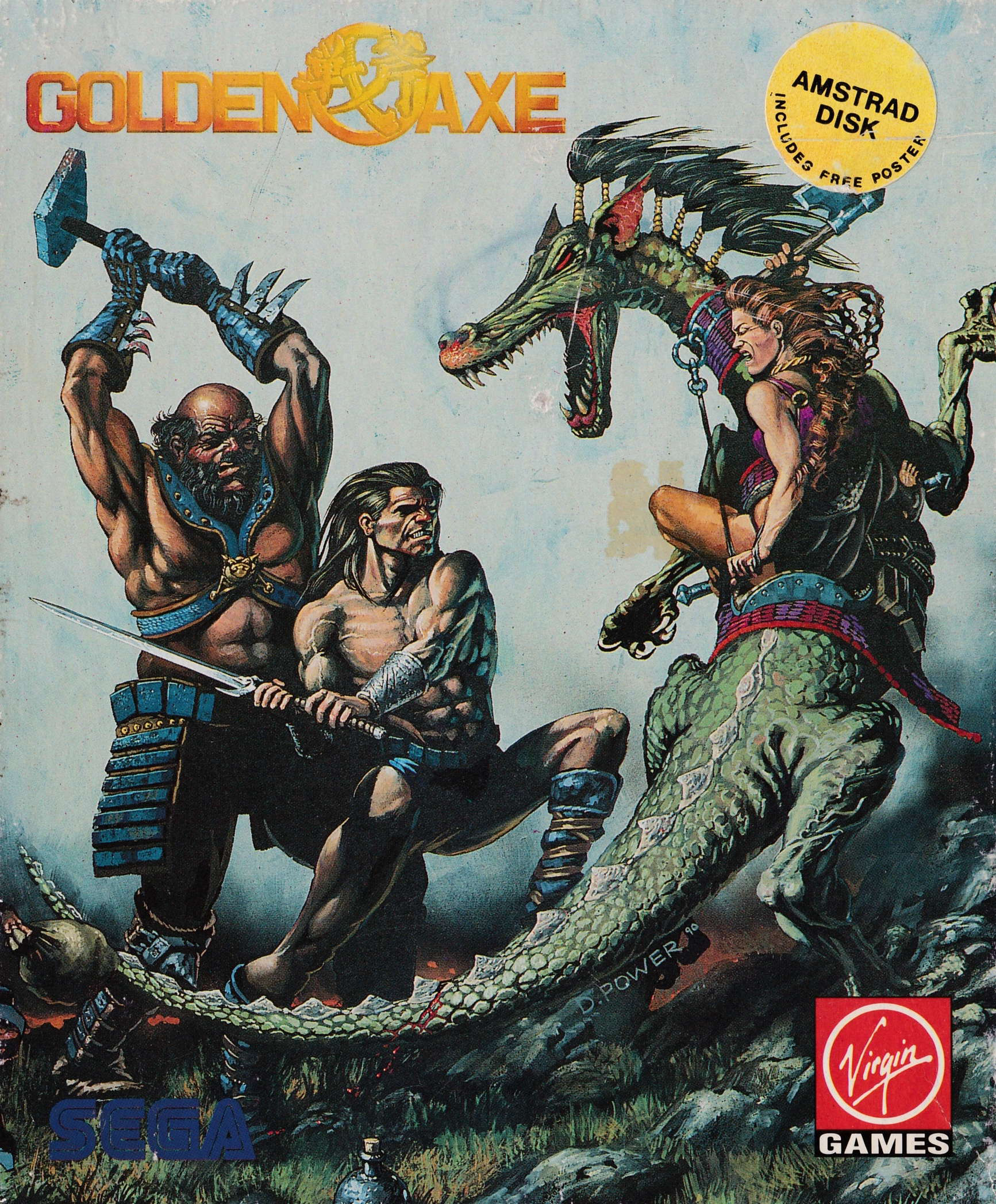 screenshot of the Amstrad CPC game Golden Axe by GameBase CPC