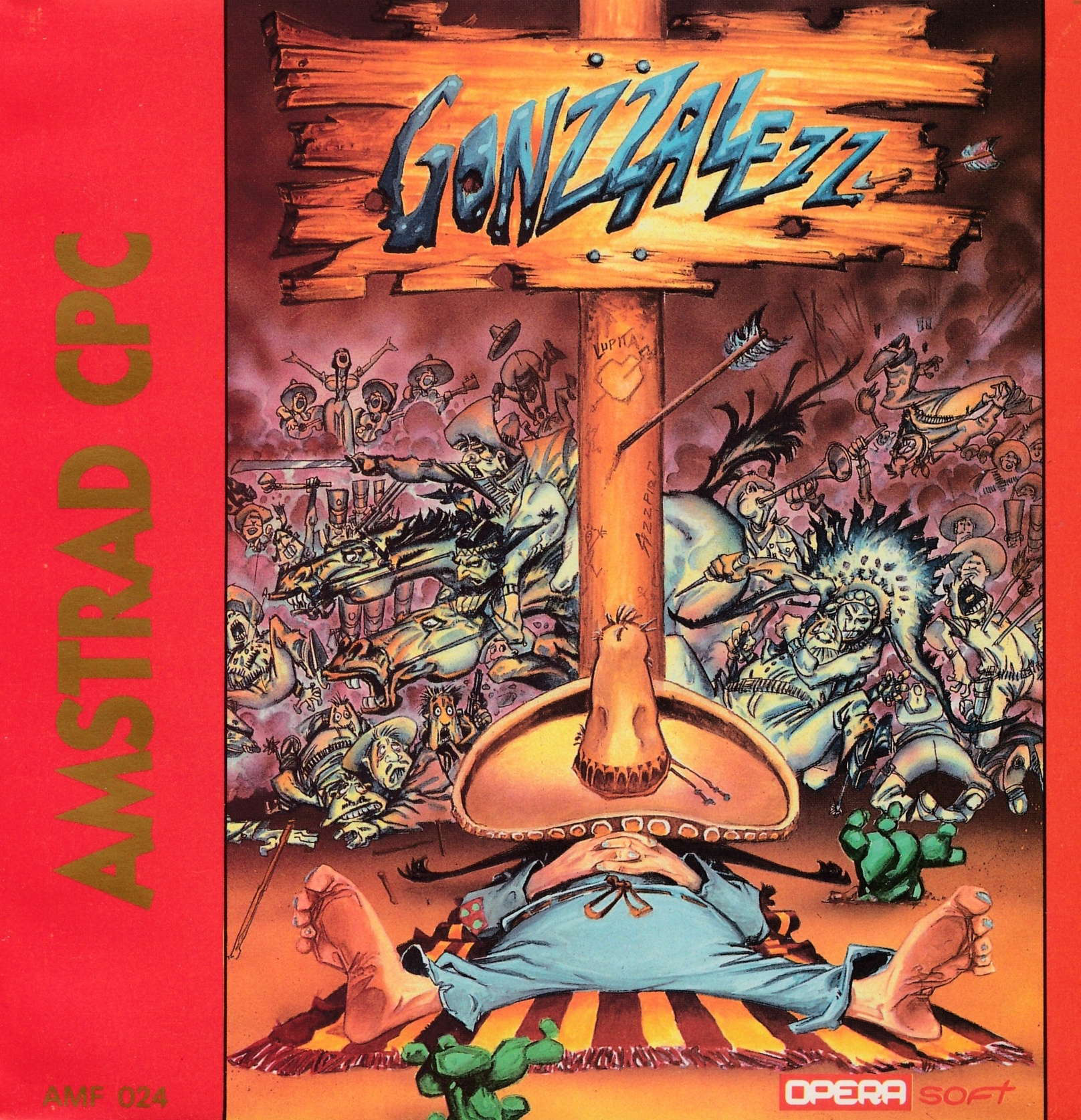 screenshot of the Amstrad CPC game Gonzzalezz by GameBase CPC