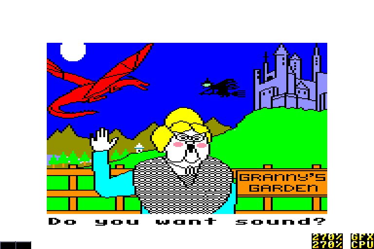 screenshot of the Amstrad CPC game Granny's garden by GameBase CPC