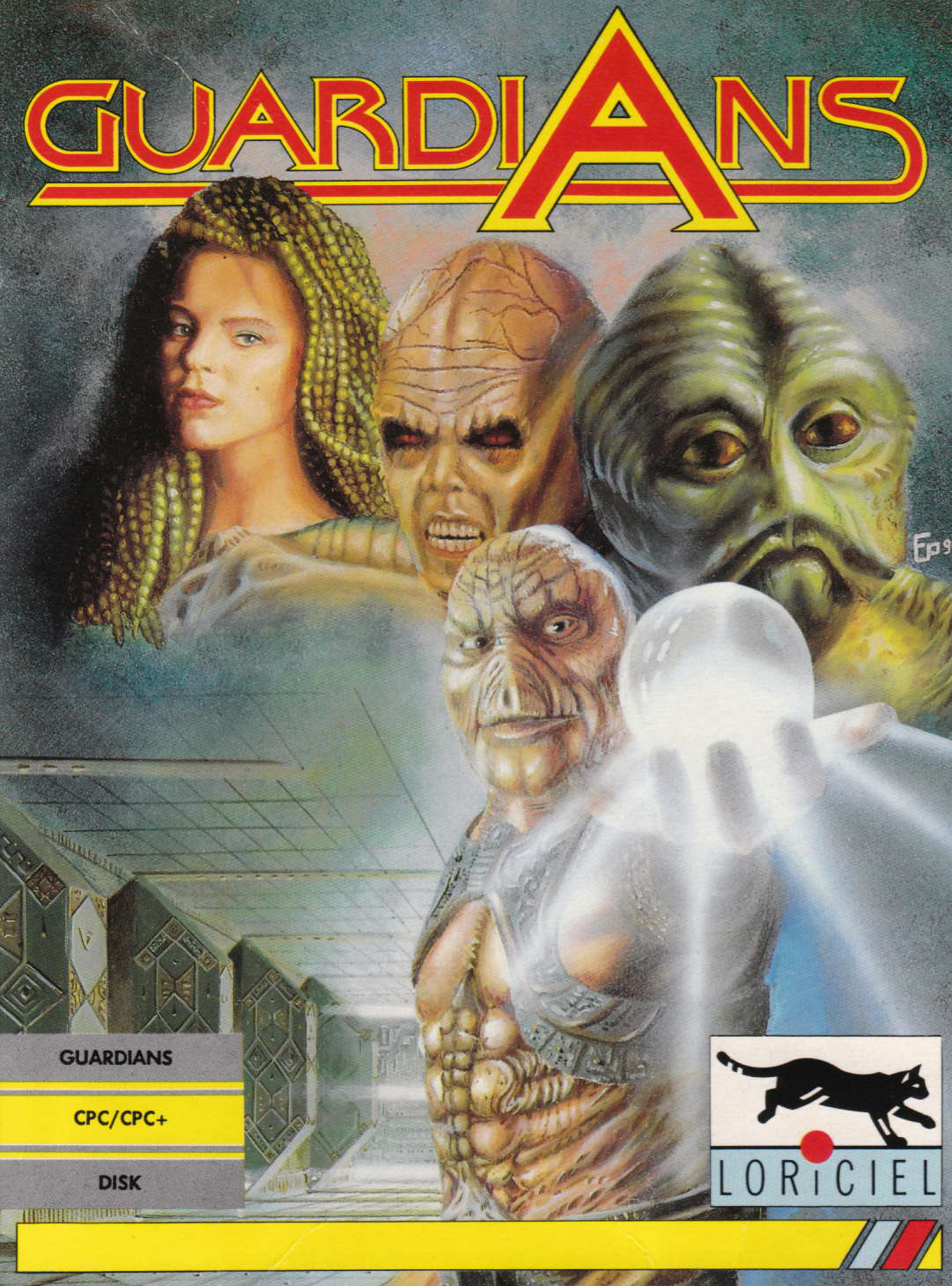 screenshot of the Amstrad CPC game Guardians by GameBase CPC