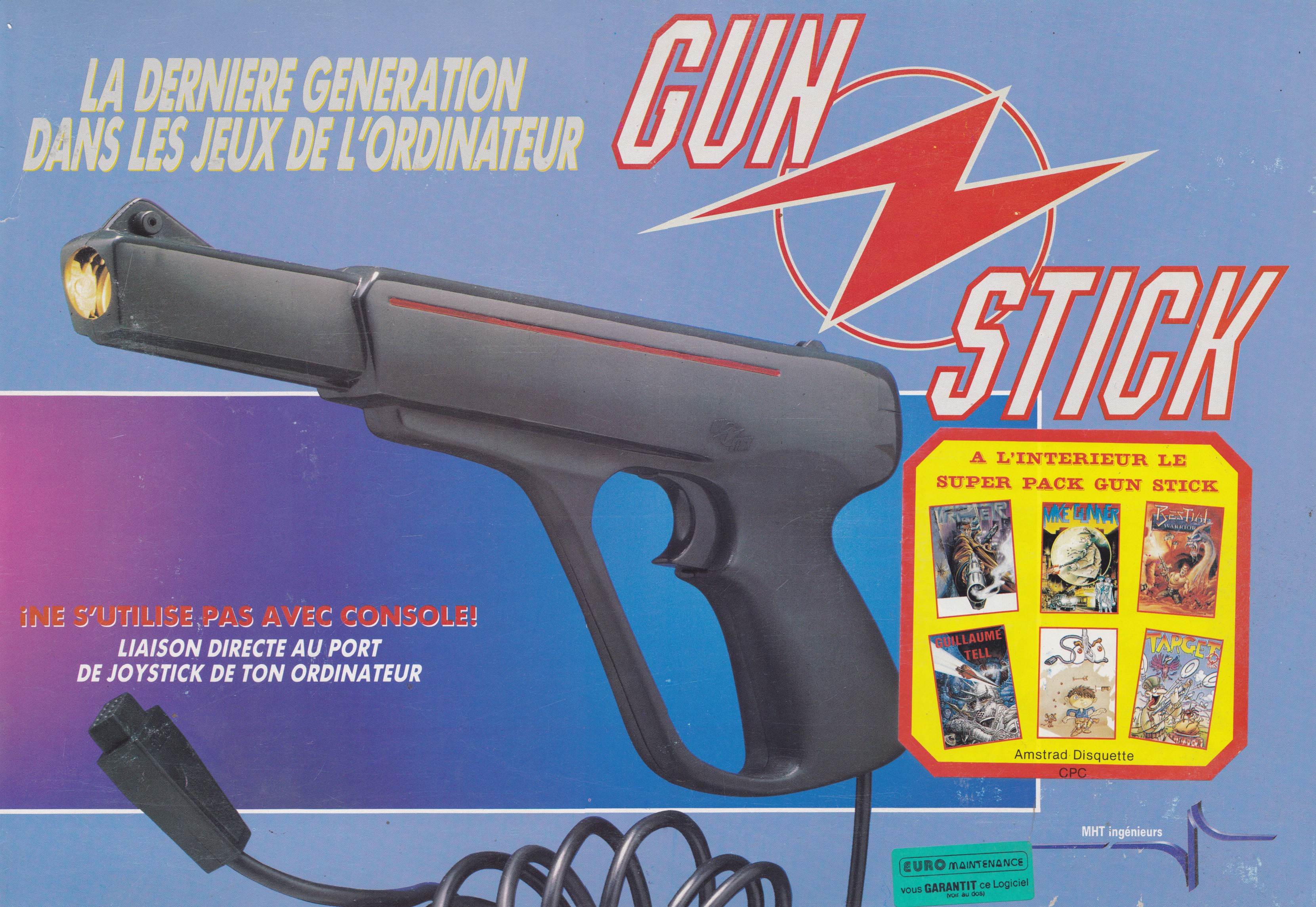screenshot of the Amstrad CPC game Gun stick by GameBase CPC