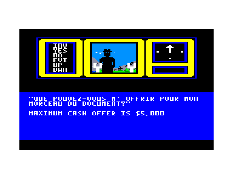 screenshot of the Amstrad CPC game Hacker by GameBase CPC