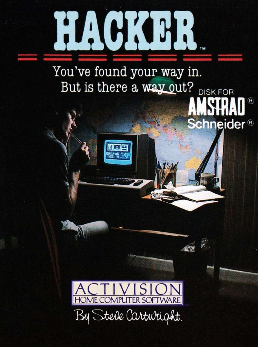 cover of the Amstrad CPC game Hacker  by GameBase CPC