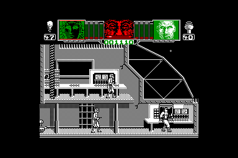 screenshot of the Amstrad CPC game Hammerfist by GameBase CPC