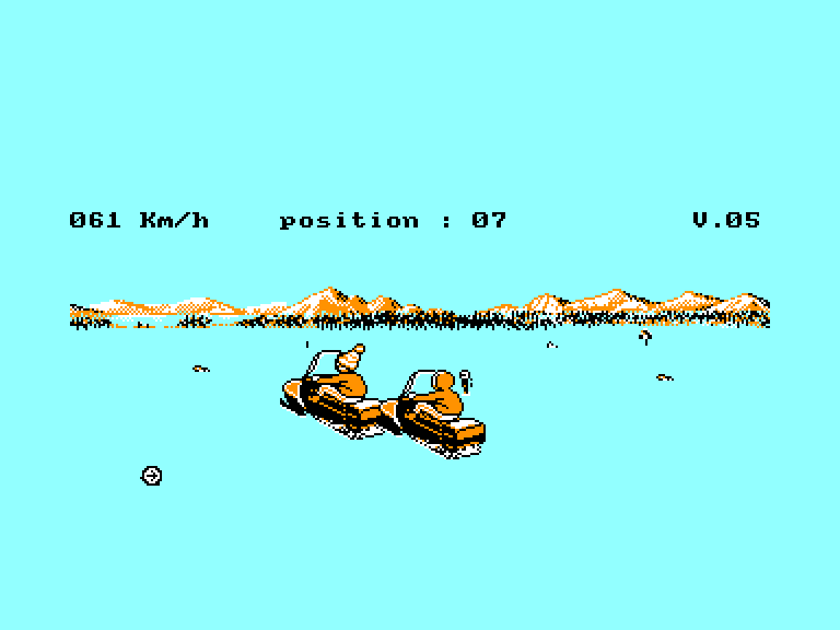 screenshot of the Amstrad CPC game Harricana by GameBase CPC