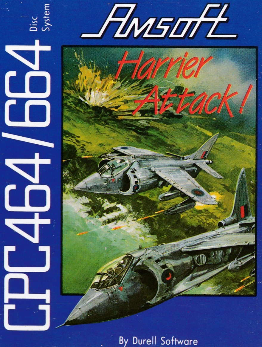 screenshot of the Amstrad CPC game Harrier Attack by GameBase CPC