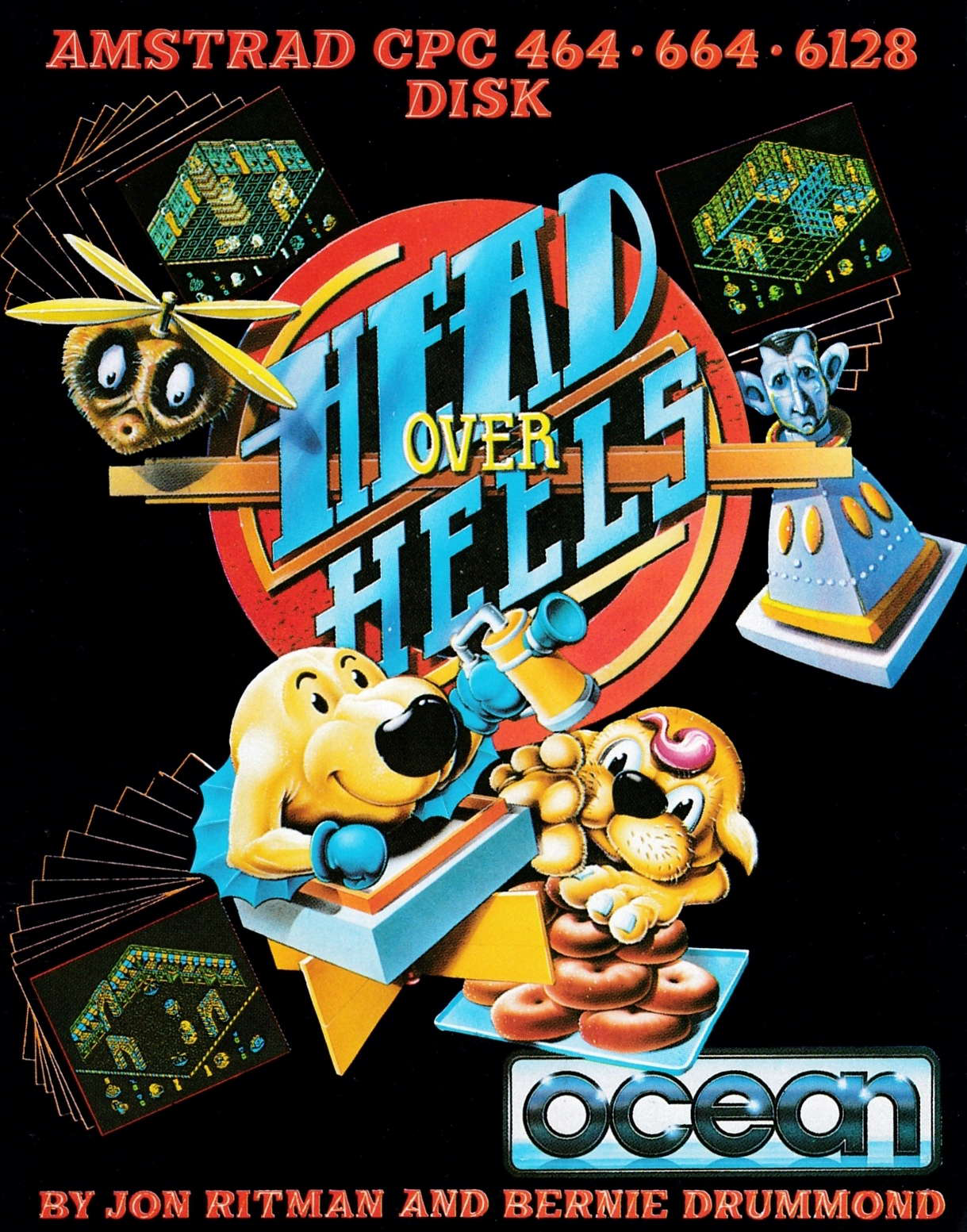 screenshot of the Amstrad CPC game Head over heels by GameBase CPC