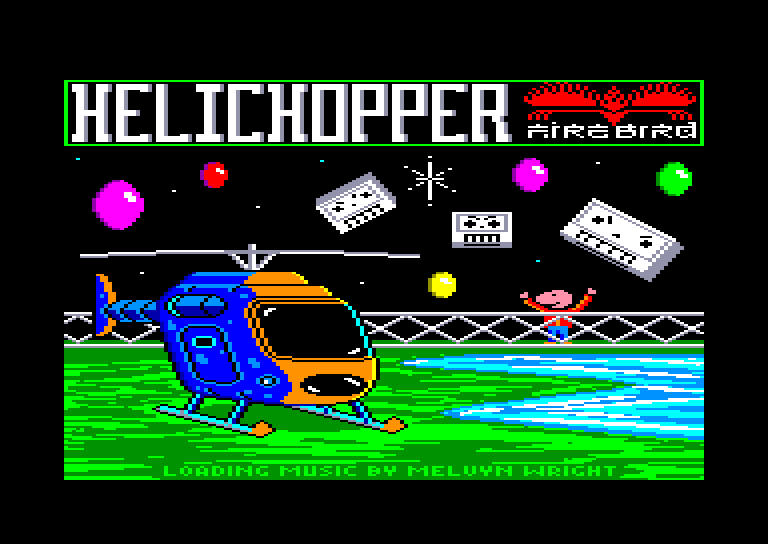 screenshot of the Amstrad CPC game Helichopper by GameBase CPC