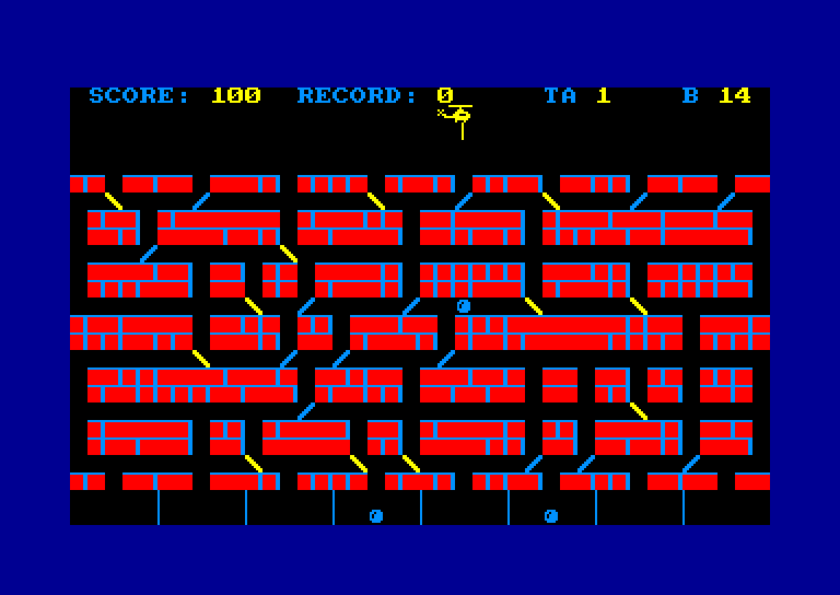 screenshot of the Amstrad CPC game Helico-Drop by GameBase CPC