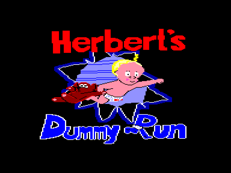 screenshot of the Amstrad CPC game Herbert's dummy run by GameBase CPC