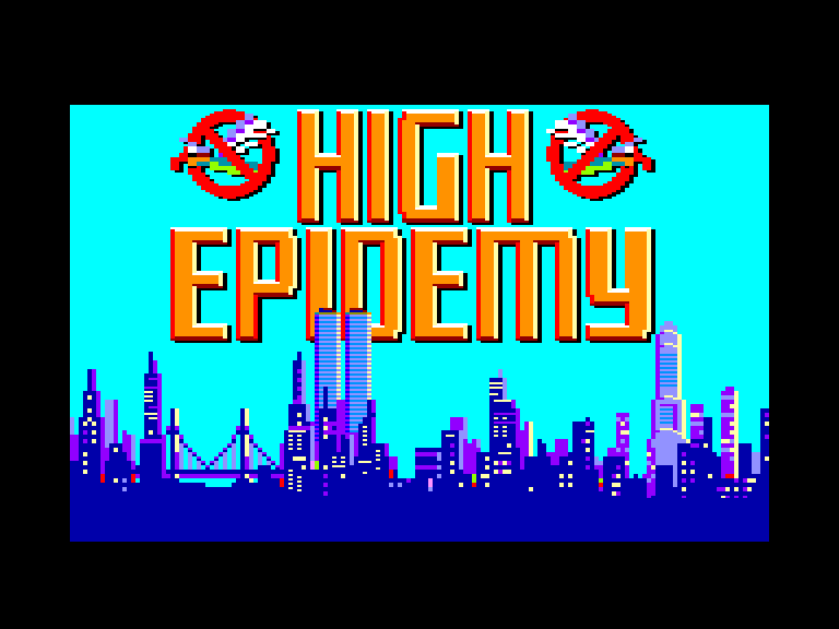 screenshot of the Amstrad CPC game High epidemy by GameBase CPC
