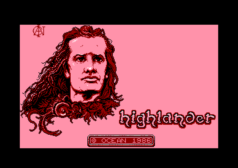 screenshot of the Amstrad CPC game Highlander by GameBase CPC