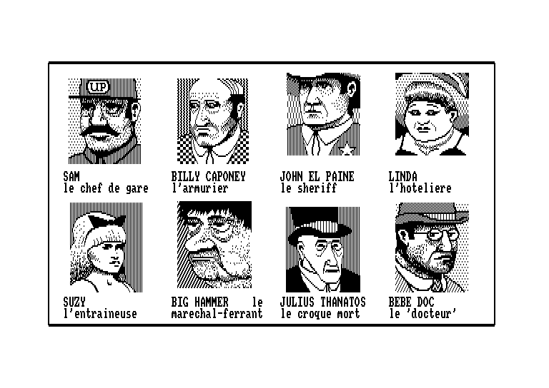 screenshot of the Amstrad CPC game Histoire d'or by GameBase CPC