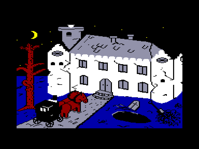 screenshot of the Amstrad CPC game House of Usher by GameBase CPC